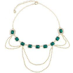 Gloria Vanderbilt Emerald Rhinestone Necklace
