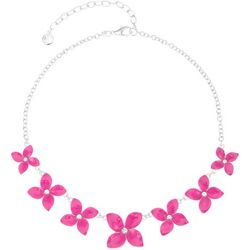Gloria Vanderbilt Pink Flower Necklace