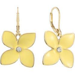 Gloria Vanderbilt Yellow Flowers Dangle Earrings