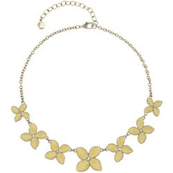 Gloria Vanderbilt Yellow Flower Necklace