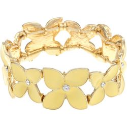 Gloria Vanderbilt Yellow Flower Stretch Bracelet