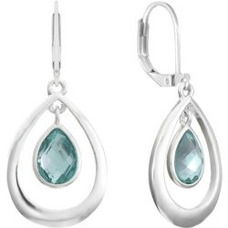 Gloria Vanderbilt Multi-Faceted Stone Teardrop Earrings