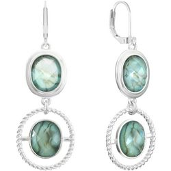 Gloria Vanderbilt Double Oval Drop Earrings