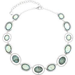 Gloria Vanderbilt Oval Stones Abalone Shell Necklace