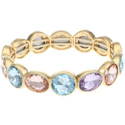 Gloria Vanderbilt Multi-Faceted Colorful Stones Bracelet