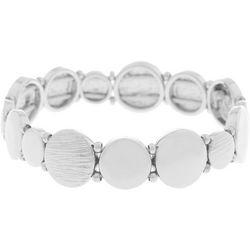 Gloria Vanderbilt Textured & Smooth Discs Stretch Bracelet
