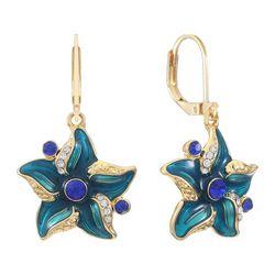 Gloria Vanderbilt Enamel & Rhinestone Starfish Earrings