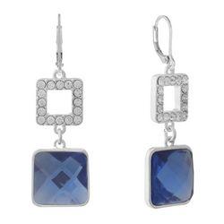 Gloria Vanderbilt Double Square Dangle Earrings