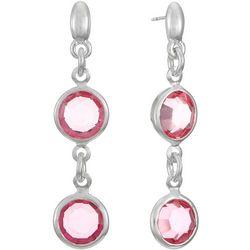 Gloria Vanderbilt Pink Double Drop Earrings