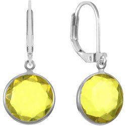 Gloria Vanderbilt Sunflower Yellow Multi-Faceted Earrings