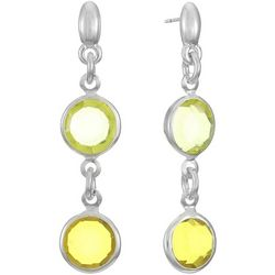 Gloria Vanderbilt Yellow Double Drop Earrings