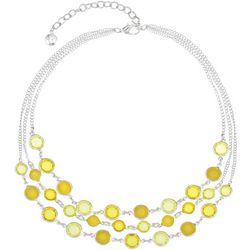 Gloria Vanderbilt 3 Row Yellow Channel Bead Necklace
