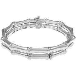 Gloria Vanderbilt Silver Tone Stretch Bracelet Set