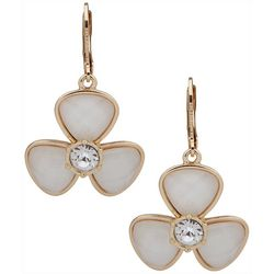 Gloria Vanderbilt Flower Rhinestone Center Earrings