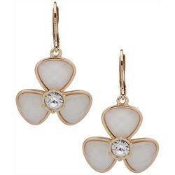 Gloria Vanderbilt Flower Rhinestone Center Earrings