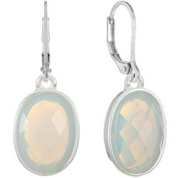 Gloria Vanderbilt Light Blue Multi-Faceted Drop Earrings