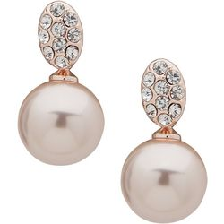 You're Invited Pink Pearl Post Top Earrings