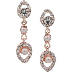 You're Invited Pink Pearl & Crystal Post Earrings