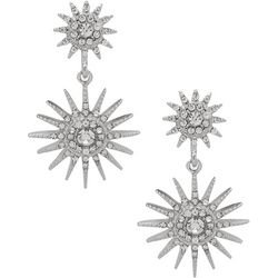 You're Invited Crystal Double Starburst Earrings