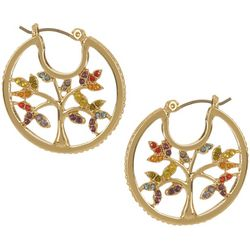 State Of Kind Rainbow Tree Hoop Earrings