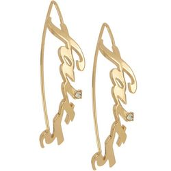State Of Kind Goldtone Metal Faith Hook Earring
