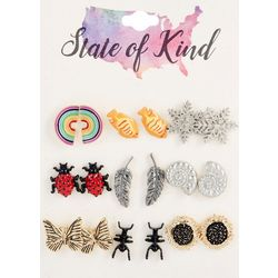 State Of Kind 9 Pc. Stud Earring Set