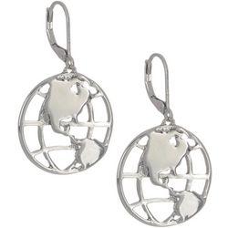 State Of Kind Silver Tone Globe Earrings