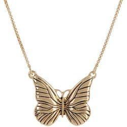 State Of Kind Gold Tone Butterfly Necklace
