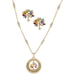 Good Health And A Bright Future Necklace Set