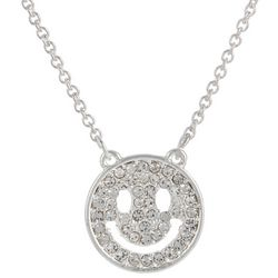 State Of Kind Silver Tone Happy Face Necklace