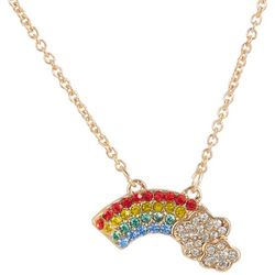 State Of Kind Rainbow Goldtone Necklace