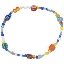 Viva Life Colorful Glass Beaded Stretch Bracelet