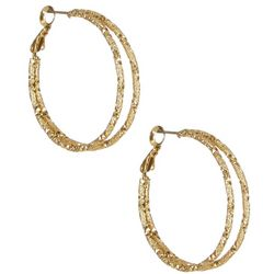 Bay Studio Gold Tone Double Hoop Earrings