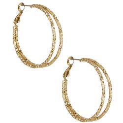 Bay Studio Gold Tone Double Hoop Earrings