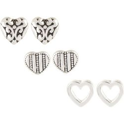 Bay Studio 3-pc. Antique Style Heart Earring Set
