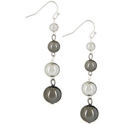Bay Studio Two Tone Linear Bead Drop Earrings