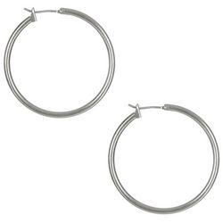 Bay Studio Silver Tone Hoop Earrings