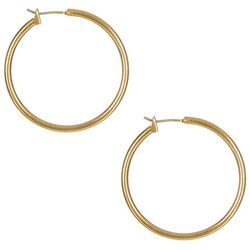 Bay Studio Gold Tone Hoop Earrings
