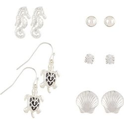Bay Studio 5-pc. Seahorse Sea Turtle Earrings Set
