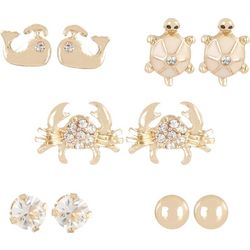 Bay Studio 5-pc. Sea Life Stud Earring Set