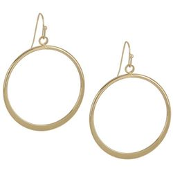 Bay Studio Gold Tone Single Circle Drop Earrings