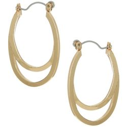 Bay Studio Goldtone Double Oval Hoop Earrings