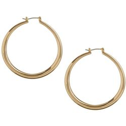 Bay Studio 1.5 in. Gold Tone Hoop Earrings