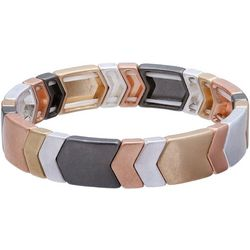 Bay Studio Multi Tone Chevron Tile Link Stretch