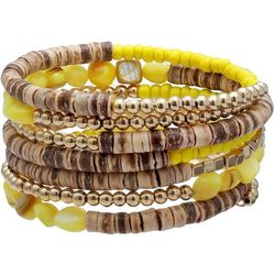 Bay Studio Yellow Beaded Multi Row Coil Bracelet