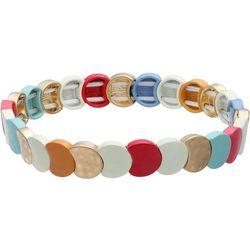 Bay Studio Colorful Tile Link Stretch Bracelet