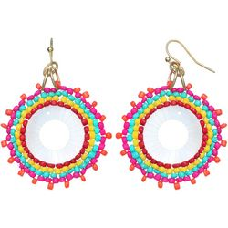 Bay Studio Colorful Seedbead Medallion Drop Earrings