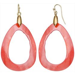 Bay Studio Coral Dyed Shell Open Teardrop Earrings