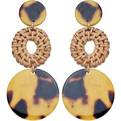 Bay Studio Triple Tortoise Disc Drop Earrings