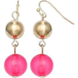 Bay Studio Pink Double Bead Drop Earrings
